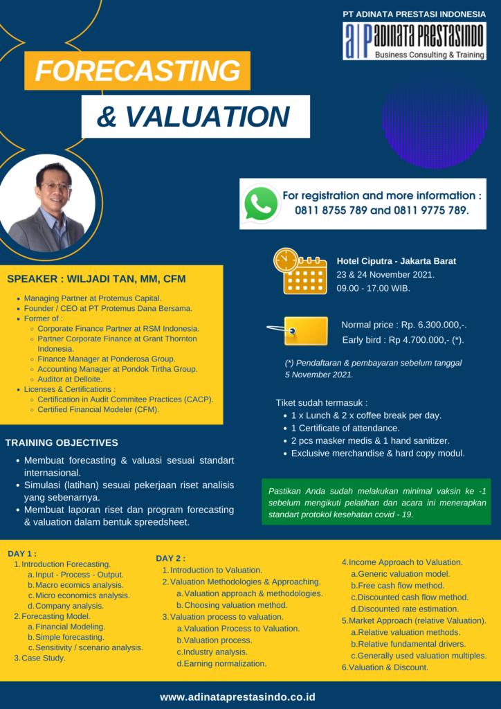 Pelatihan forecasting & valuation
