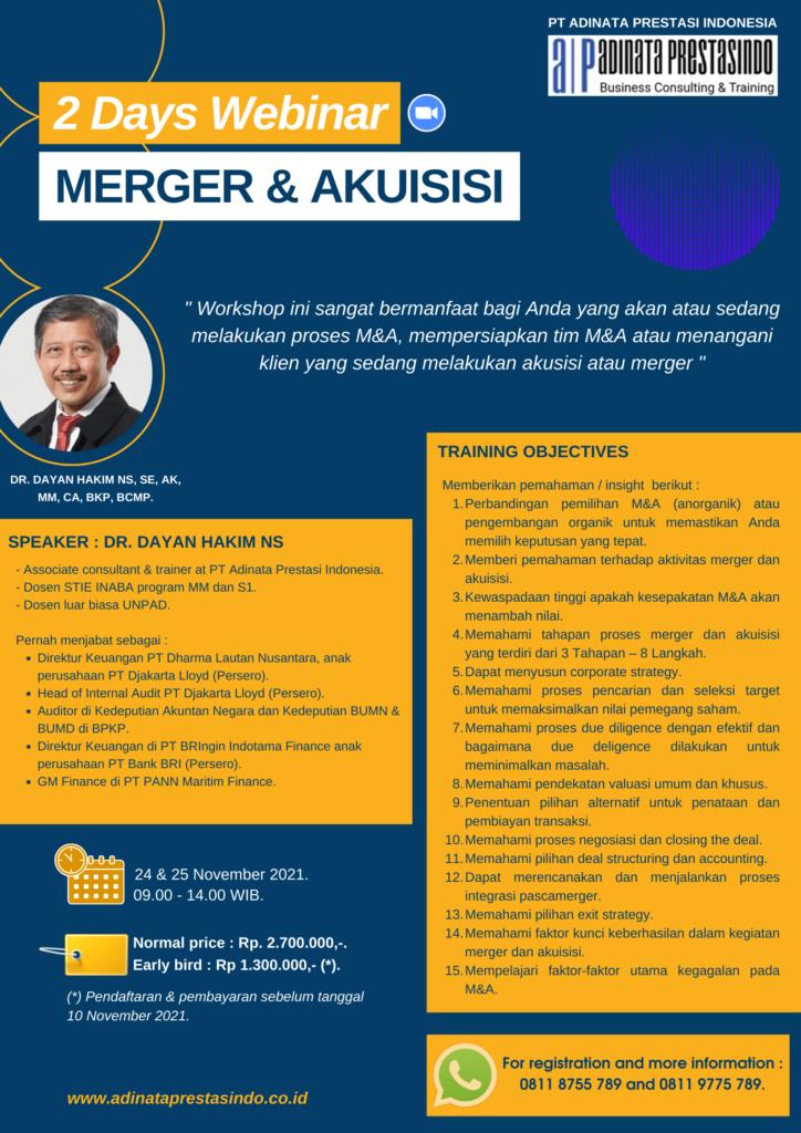 pelatihan merger dan akusisi